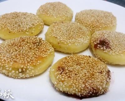薯香蓝莓饼
