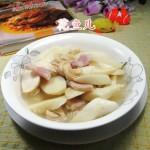 咸肉茭白煮千张结