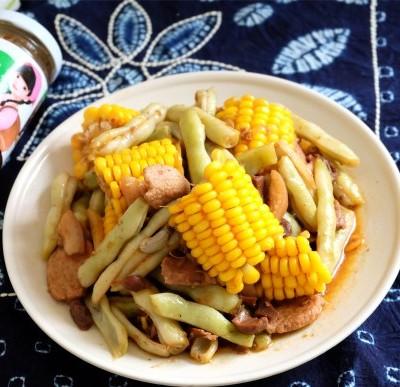 玉米醬豆角