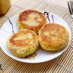 小米发面豆沙饼