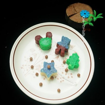 彩色Q糖味道绿豆糕