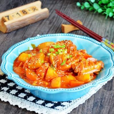 韓式辣燉雞翅