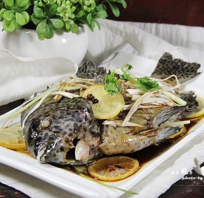清蒸柠檬石斑鱼