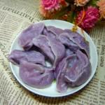 紫薯韭菜饺子