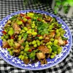 毛豆香菇炒鸭丁
