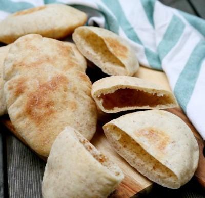 全麦麦麸口袋饼