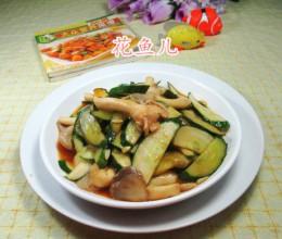 秀珍菇炒青瓜