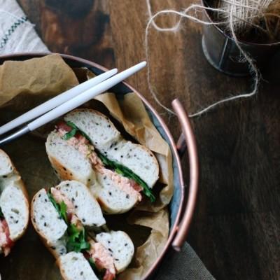 菠菜三文鱼三明治