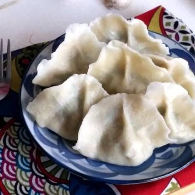 蘑菇小白菜豬肉餃子
