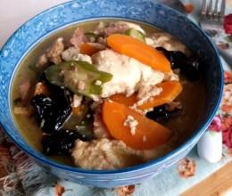 胡萝卜肉末水豆腐