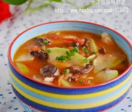 茄汁瓠瓜鸽肝汤
