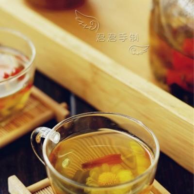 百合菊花草茶