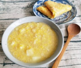 小米燕麦片苹果粥