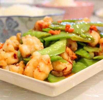 红虾荷兰豆