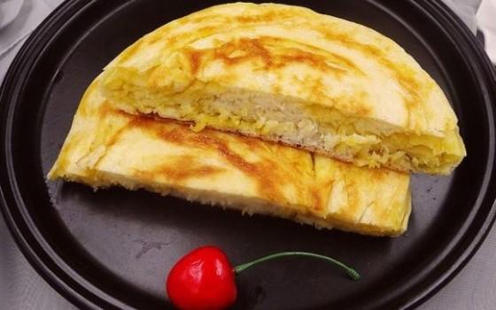 咸蛋黄烙饼