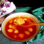 鸡茸丸番茄浓汤