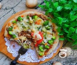 香菇猪肉披萨