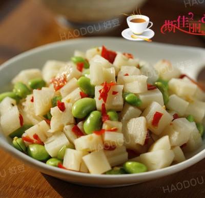 剁椒毛豆米拌藕丁