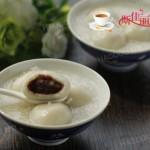 桂花豆沙莲子米酒汤圆