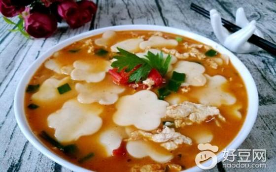 小柿子鸡蛋面片汤
