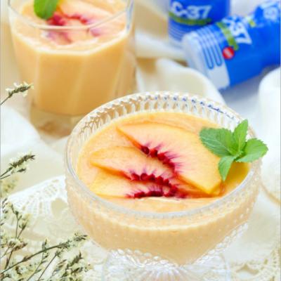 乳酸菌黄桃奶昔