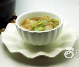 丝瓜油条汤