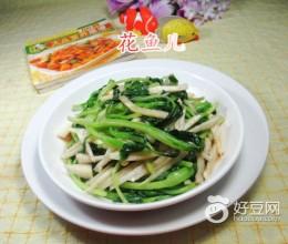 虾酱茭白丝炒鸡毛菜