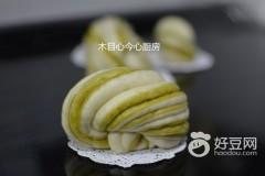 菠菜汁双色花卷