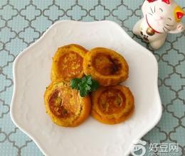 电饼铛食谱-糯米南瓜饼