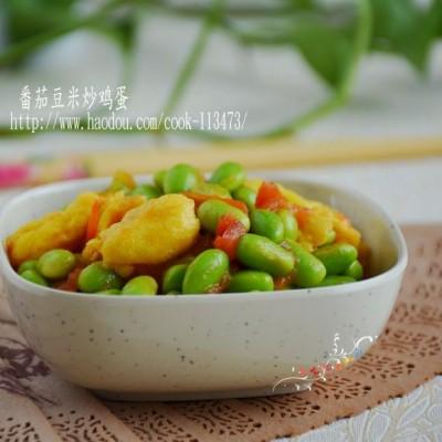 #润秋燥#番茄豆米炒鸡