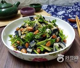 香菜臭干拌花生米