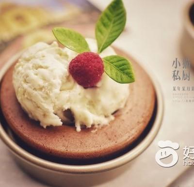 燕麥冰淇淋蛋糕碗