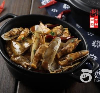 麻辣葱姜炒蛏子