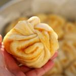 红薯馅夹层花卷