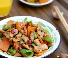 红薯炒肉片