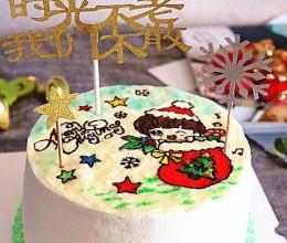 芝士转印圣诞蛋糕