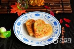 虾仁青红椒饼