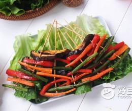 空气炸锅食谱-鲜菇彩蔬串