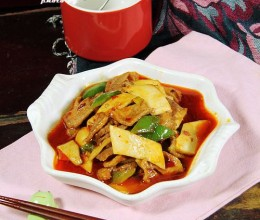 鱼香杏鲍菇炒肉片
