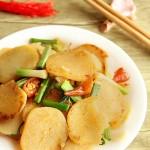 青蒜苗炒米豆腐