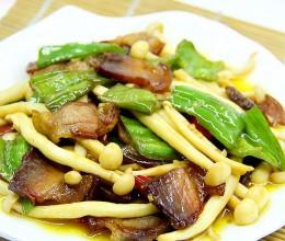 白玉菇炒腊肉