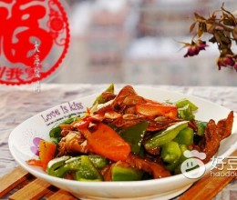 元蘑炒青椒
