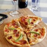 香肠菌菇披萨