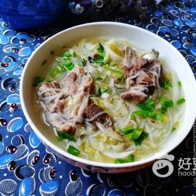 扇骨酸菜粉条汤