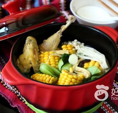 玉米棒土鸡汤