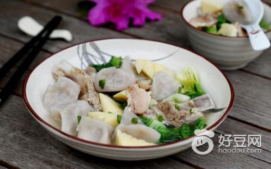 腌笃鲜芋饺