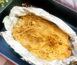 金针菇烤三文鱼