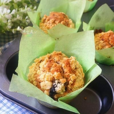 酥粒藍莓馬芬蛋糕