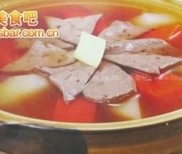 菜谱:萝卜炖羊肝的做法