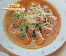 菜谱:萝卜丝炖青虾的做法